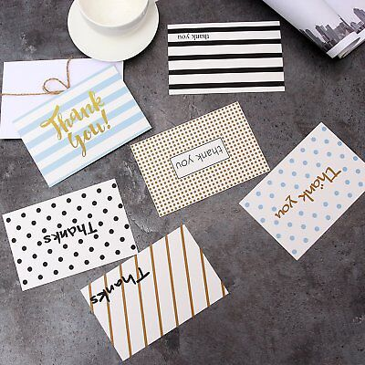 OHUHU THANK YOU Card W/ 48 Envelopes for Wedding Graduation Note