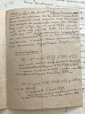 1882 MARRIAGE CONTRACT 14 pages - $7000 PicClick