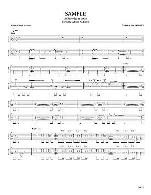 METALLICA GUITAR  Bass Tab RIDE THE LIGHTNING Lessons on Disc - metallicaguitar tabs