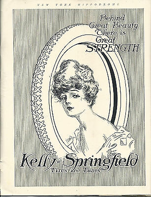 ORIGINAL 1917 HIPPODROME Souvenir Program Leyendecker Cover, Musical
