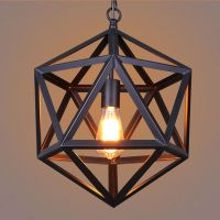 BLACK CHANDELIER LIGHTING Bar Lamp Vintage Pendant Light ...