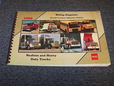 1988 GMC TOPKICK C5500 C6500 C7500 C8500 Truck Electrical Wiring