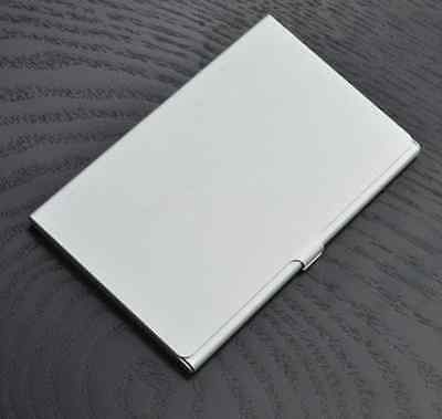 WATERPROOF SILVER POCKET Name Credit ID Business Card Holder Box Metal Case  Yuno