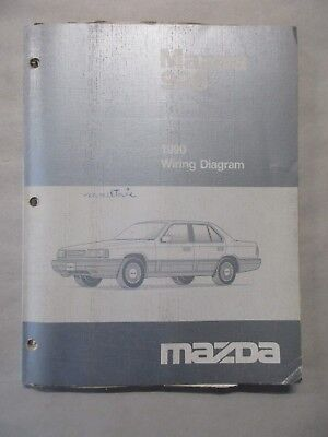 1990 MAZDA 323 WIRING Diagram Electrical Service Repair Shop Manual