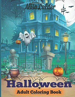 HALLOWEEN COLORING BOOK Halloween Adult Coloring Book (Happy