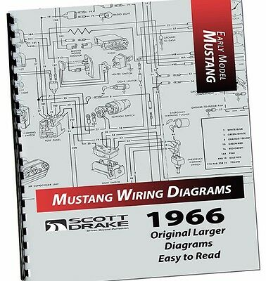 1966 FORD MUSTANG Colorized Wiring Diagrams Manual On Cd - $2495