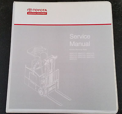 TOYOTA 5,6 AND 7 series forklift service manual on Flash Drive
