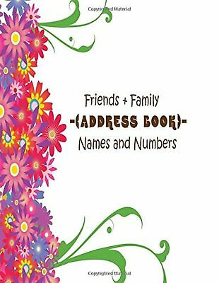 FRIENDS + Family Address Book Names And Numbers Big Print Extra
