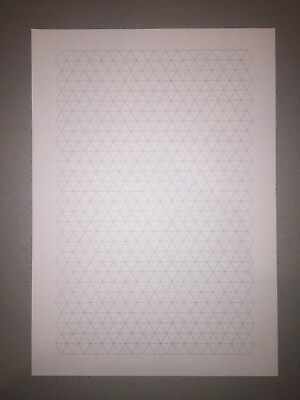 A4 GRAPH PAPER 1cm 10mm Isometric 60 sides/30 Double sided Sheets