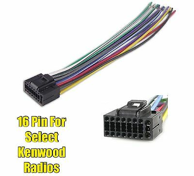 CAR STEREO RADIO Replacement Wire Harness Plug for select Kenwood 16