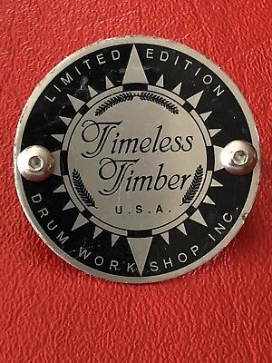 DW DRUM WORKSHOP Authentic Collectors Timeless Timber Series Badge