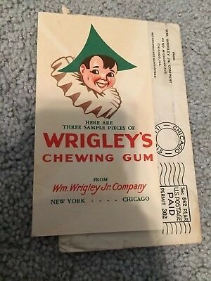 VINTAGE WRIGLEY\u0027S CHEWING Gum Sample Pieces Mailer Advertisement