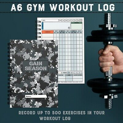 FITNESS WEIGHT TRAINING Log Book, Gym Diary, Workout Log, Exercise