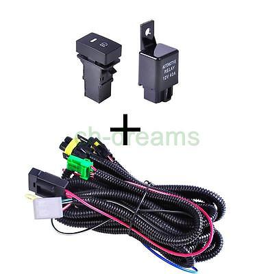 FOR FORD FOG Light Wiring Harness Sockets Wire LED indicators Switch