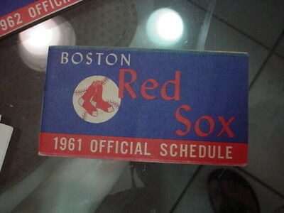 BOSTON RED SOX 1961 Official Schedule Booklet - $799 PicClick