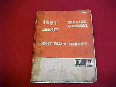 1969-1970 GMC SHOP Manual Pickup Truck Jimmy Suburban 1500-3500