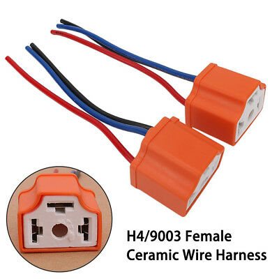 WIRE SOCKET HEADLIGHT Connector Adaptor  55W Lamp Bulb For New 9006