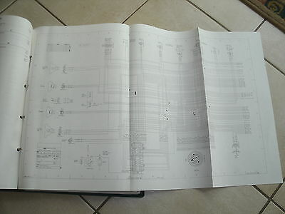 1984 FORD L-SERIES Delivery Truck OEM 12 X 25 Foldout Binder Wiring
