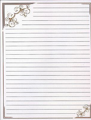 WHIMSICAL FANTASY LINED Stationery Writing Paper Set, 25 sheets  10