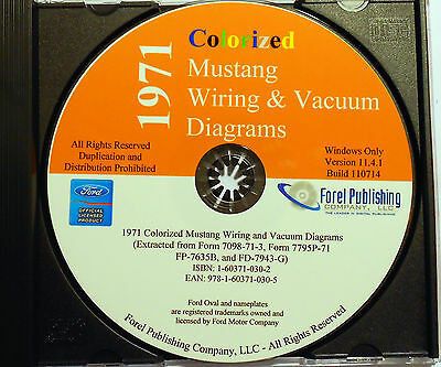 1970 Ford Mustang Colorized Wiring Diagrams Cdrom Index listing of