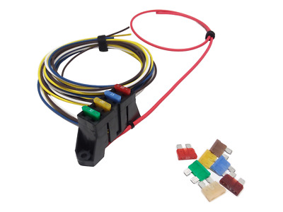 DELPHI ATO ATC 4 Way Fuse Block Panel Holder With Terminals and