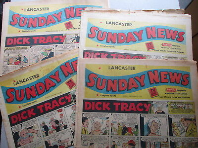 SUNDAY NEWSPAPER Comics Lancaster PA FOUR SECTIONS 1957-1961, SIXTY