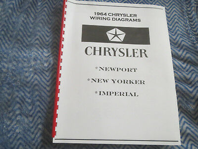 1964 CHRYSLER 300 Newport New Yorker Original Sales Brochure Catalog