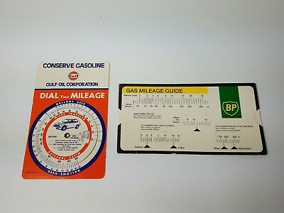 VINTAGE BP GAS Mileage Guide Calculator Slide Rule British