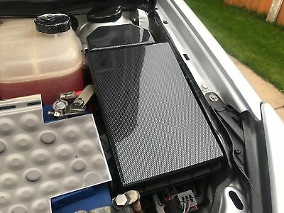VAUXHALL ASTRA MK5 Fuse Box Lid Cover And Relay Cover Carbon Fiber
