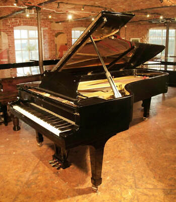 A 1955, STEINWAY Model D concert grand piano with a black case Made
