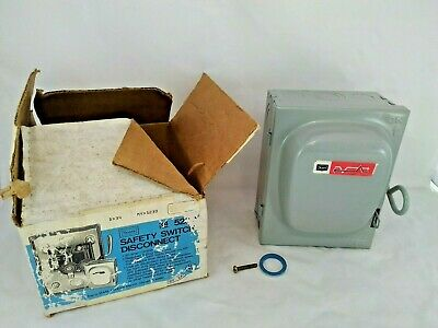 VINTAGE SEARS METAL Safety switch disconnect Fuse box nos