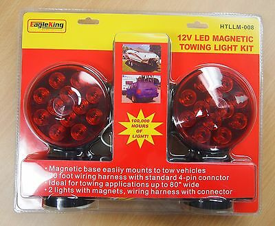 4 PIN ROUND, LED Magnetic SST Tow Lights, Commercial Grade