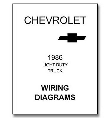 Light Duty Truck Wiring Diagrams 1987 Index listing of wiring diagrams