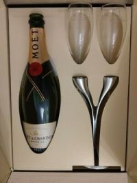 MOET & Chandon Ice Imperial Champagner limitierte Echtglas ...