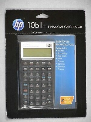 NEW HP 10BII+ Financial Calculator (NW239AA) Business And Exam Ready
