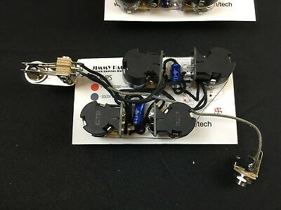 CUSTOM JIMMY PAGE Wiring Harness Push-Pull Pot 500K 4 USA Gibson Les