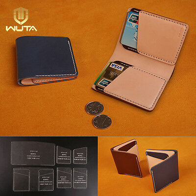 WUTA LEATHER Vertical Wallet Template Acrylic Card Csae Stencil - wallet template