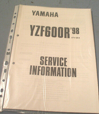 YAMAHA YZF600R 1998 4Tv Se4 Service Information Wiring Diagram
