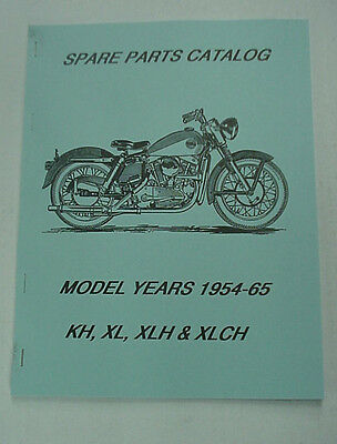 HARLEY PARTS MANUAL Catalog Book 1954 to 1966 K-Model  Sportster KH