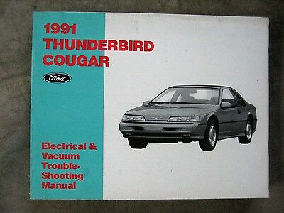 1989 FORD THUNDERBIRD Cougar Wiring Diagram Electrical Vacuum Manual