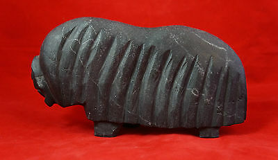 Inuit Rare Large Stone Carving Oil Lamp Cooking Pot Heater