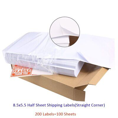 S 200 SHIPPING POSTAGE LABELS/ 2 LABELS PER PAGE 85x55 USPS FedEx