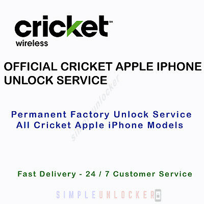 OFFICIAL CRICKET IPHONE Unlock Service 5S, 6 , 6+, 6S, 6S+, Se, 7, 7 - Cricket Number Customer Service