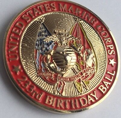 US MARINE CORPS Mals-14 Birthday Ball Challenge Coin - $599 PicClick