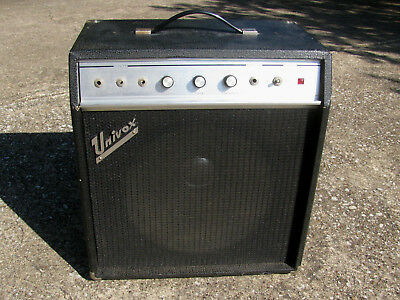 VINTAGE 1968 UNIVOX U-45B Guitar Amp with Jensen Speaker - $17900