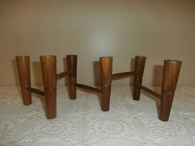 Beautiful Mid Century Modern Articulating Folding Wood 6