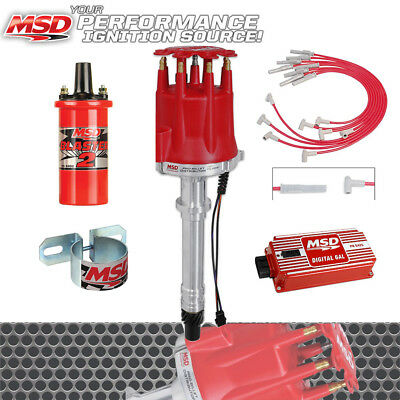 MSD IGNITION KIT Ford 302 Small Cap Digital 6AL Distributor Wires