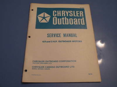 CHRYSLER 10 Hp Outboard Motor Parts Manual / Ob 2495 - $1399 PicClick