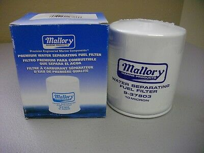 MALLORY WATER SEPERATING fuel filter 9-37803 OMC Johnson Evinrude