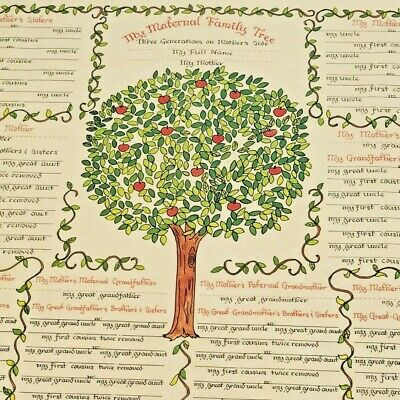 FAMILY TREE CHART 5 to 6 Generations Genealogy, 14x18\